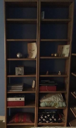 2 librerias altas madera