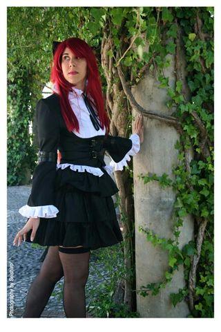 Disfraz Halloween Cosplay Erza Gótica Lolita