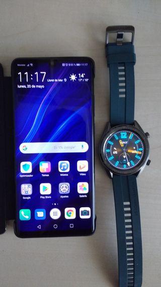 Huawei P30 Pro + Huawei Watch GT + accesorios