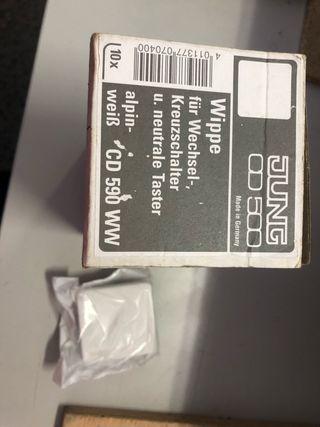 Tecla simple CD 590 WW