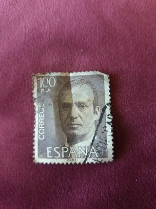 sello de 100pta.