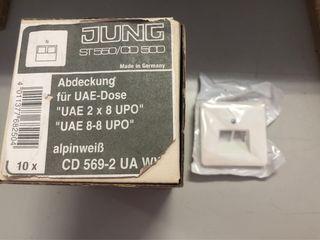 Tapa doble RJ45 CD 569-2 UA WW