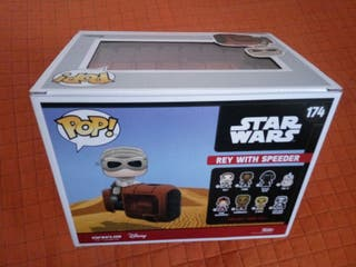 NEW!!! Funko POP 174 Rey with Speeder Galactic Convention -Star Wars