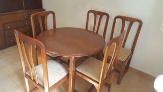 Mesa de comedor + 5 sillas REGALO LIBRERIA