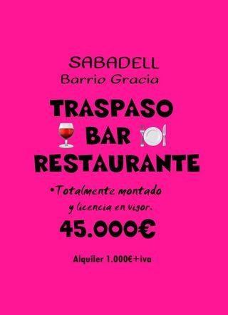 BAR RESTAURANTE EN TRASPASO