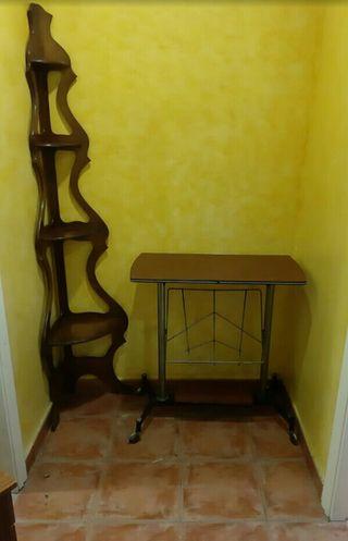 mesa + repisa esquinera