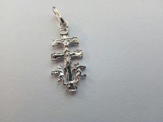 cruz de caravaca en plAta 22mm (nueva)