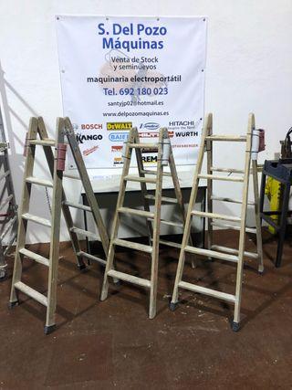 Escalera madera 5 peldaños
