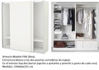 Armario Con Espejo Ikea De Segunda Mano En Madrid En Wallapop