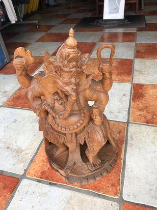 Ganesha madera morera