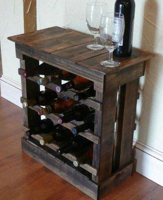 Mueble botellero viñero madera
