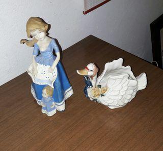 vendo, estàs dos figuras de porcelana antigua