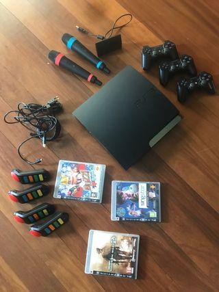 Play Station 3 + 3 juegos