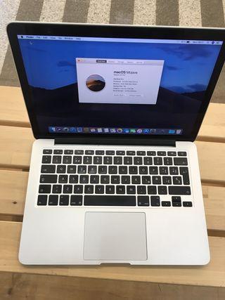 "Macbook pro retina 13"" i5 8gb 256 SSD mediados2014"