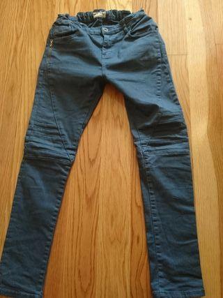 pantalon loneta azul sin uso