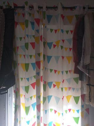 cortinas infantil y barra