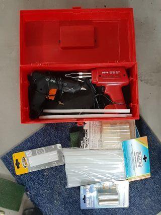 Pistolas termoselladoras de soldar + accesorios