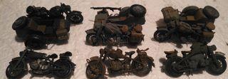 Lote de motos alemanas 1/35 montados y pintadas