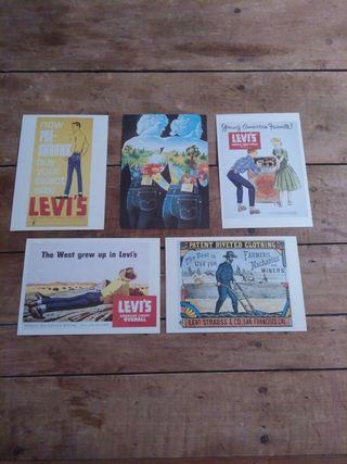 Postales publicitarias antiguas Levi's