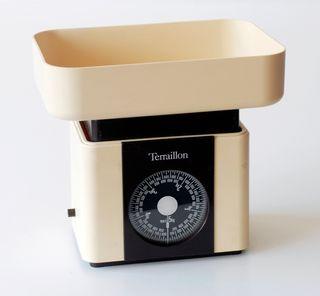 Báscula vintage de cocina, marca Terraillon France