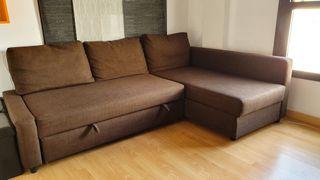 Sofá cama tipo chaise longue
