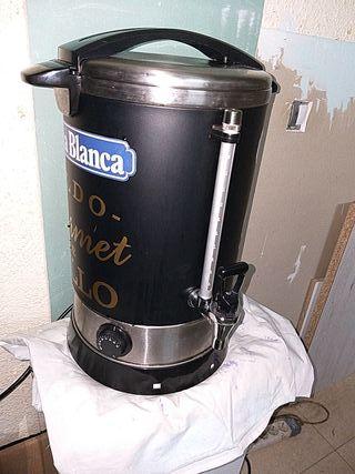 calentador con dispensador de leche o caldo