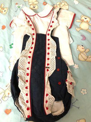 Conjunto camisa y pelele 12-18 meses de Dolce Peti