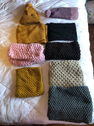 Pack Cuellos y gorros de lana