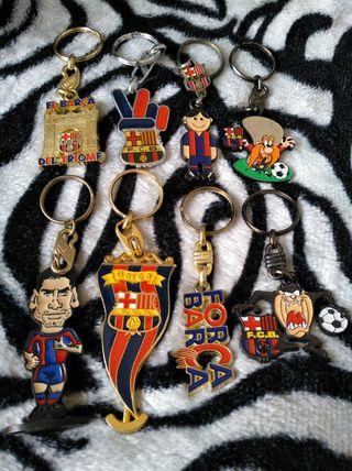 antiguo llaveros fútbol club Barcelona lote