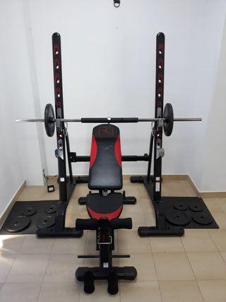 Equipo musculación (pesas)