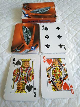 baraja poker 54 cartas publicidad peugeot . 54 nai