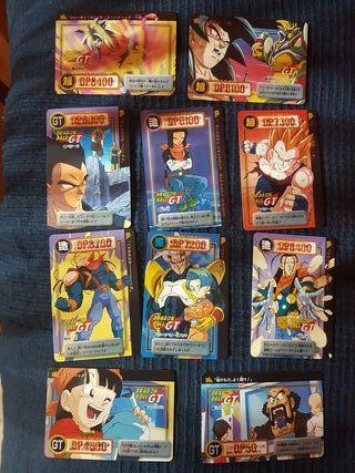 Dragonball GT cartas japonesas