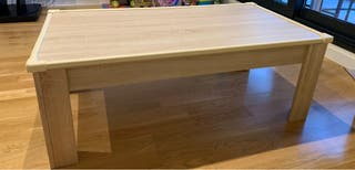 Mesa de centro rústica color roble