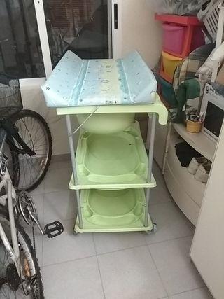 bañera cambiador para bebés