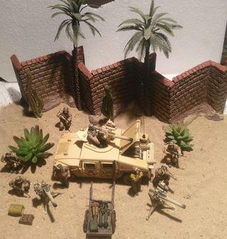 Escena Kuwait con humvee y pelotón 1/35...1/32 mon