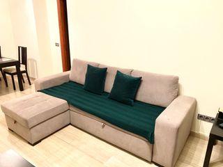 Sofá cama chaise longue.