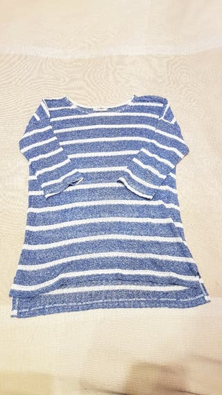 Jersey de rallas azul y blanco.Talla S