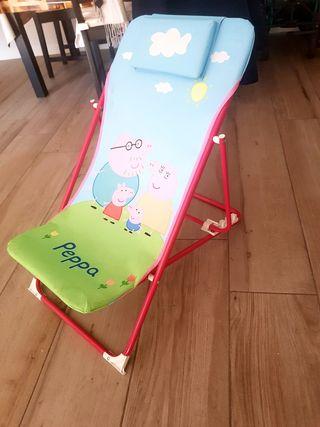 Hamaca infantil plegable para niña Peppa Pig