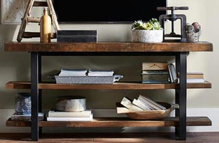 Mueble tv madera acero industrial