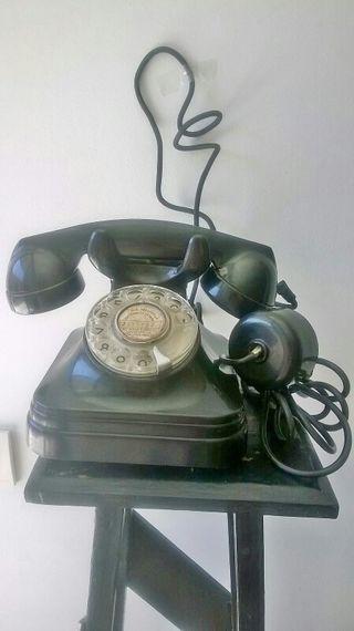 antiguo teléfono baquelita años 50-60 CTNE