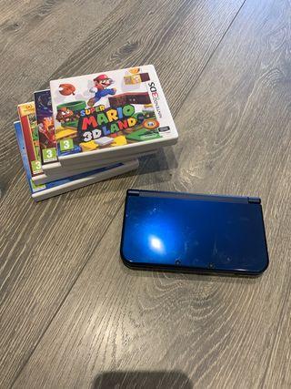 Kit de Nintendo 3Ds XL + funda + 4 juegos