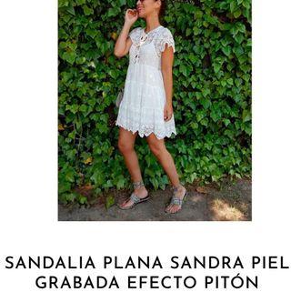 Sandalias piel Sandra pitón 38