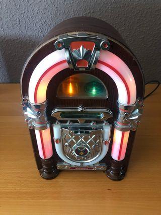 Radio Jukebox de madera con luces