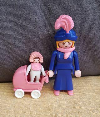 Mujer victoriana con carrito y bebé de Playmobil