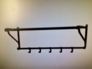Perchero negro hierro Ikea Nuevo