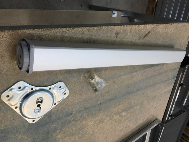 Patas de aluminio para mesa