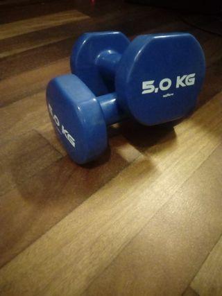 Decathlon. Pesas de 5kg