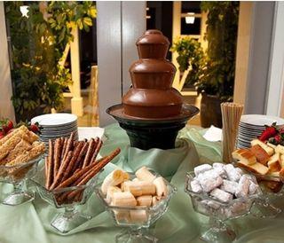 fuentes de chocolate para cumpleaños