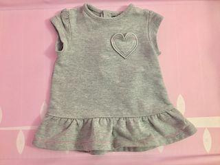 Vestido bebé gris