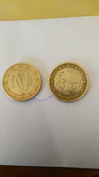 dos monedas de un euro